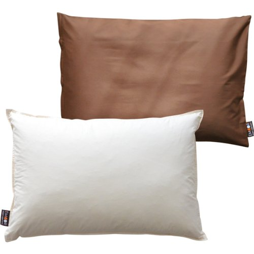 エムール ホテル仕様 カバー付羽根枕 『リッチフェザーピロー』 約43×63cm 日本製 ブラウン