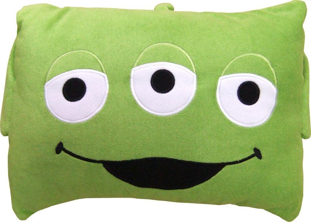 (ディズニー)Disney&(サンリオ)Sanrio キャラクター枕カバー(枕付き) 28×39×9cm #2839 (エイリアン(トイストーリー))