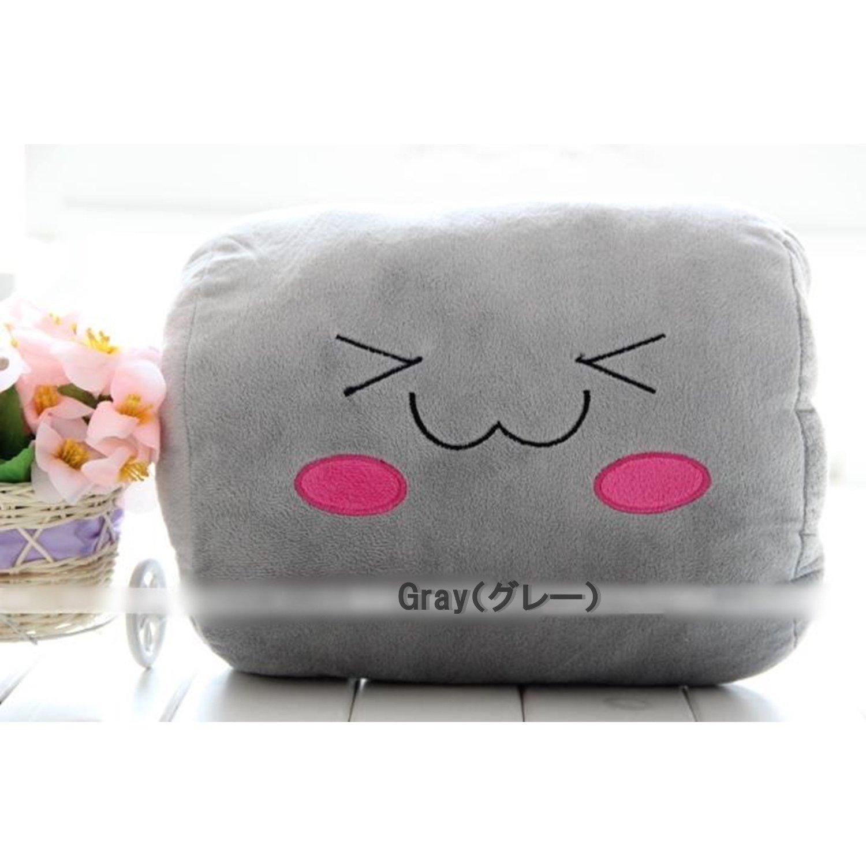 ほっこりかわいい♪ぬいぐるみのようなお昼寝枕 ハンドピロー ちょい寝 デスク枕 携帯枕 仮眠枕 まくら マクラ デスクピロー (グレー)