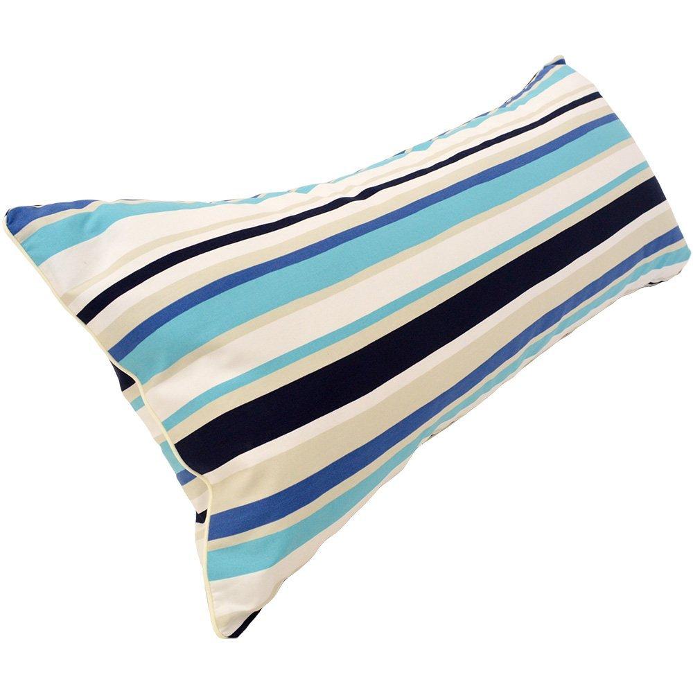 ストライプ柄 ロング枕 43×90cm ブルー 日本製