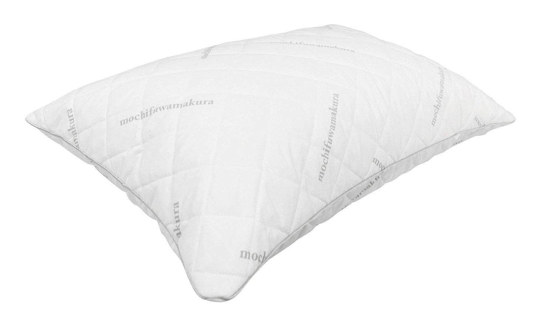 首・肩への負担軽減 【もちふわ エアチップピロー】 低反発チップまくら 枕 ホワイト Mサイズ 約43*63cm